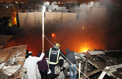 Bahrain : 13 Workers Killed in Blaze