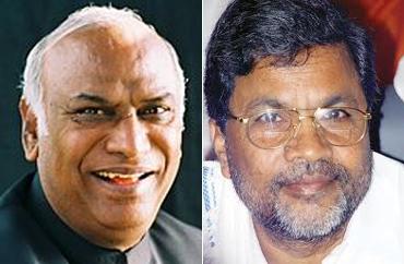 Mallikarjuna Kharge and Siddaramaiah