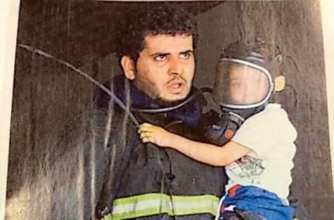 SAUDI-firefighter