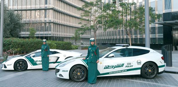 Dubai Police _ ferrari