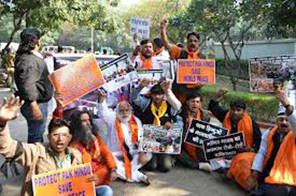 Protest at UN Office for PAK Hindus1