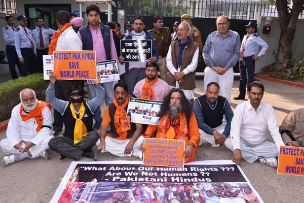 Protest at UN Office for PAK Hindus3
