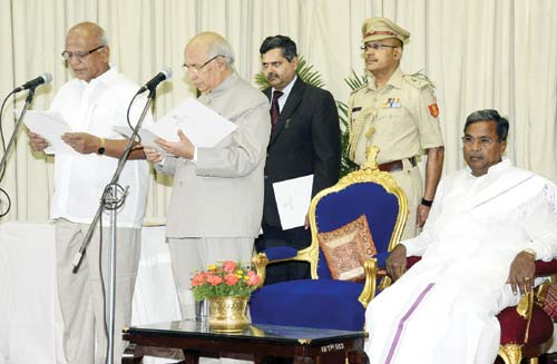 s.r.patil sworn