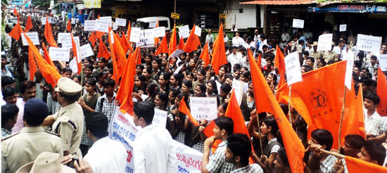 Uppinagadi_abvp_protest