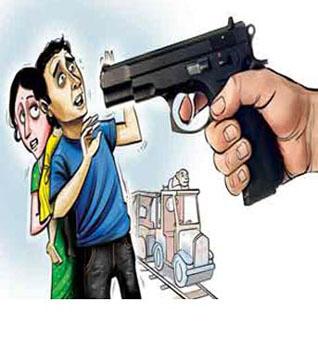 man threatens with gun- rep pic