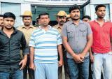 Five arrested