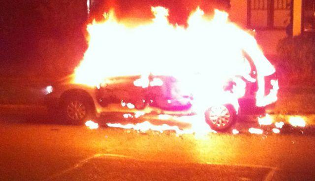 Gulf - car fire