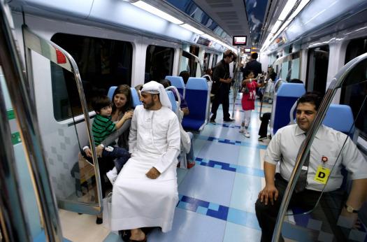 dubai metro on board