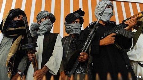 Afghan Taliban fighters