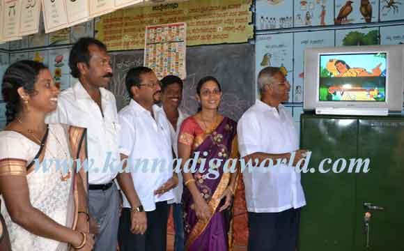 MLA J R Lobo inaugurated TV at Nejiguri Anganavadi