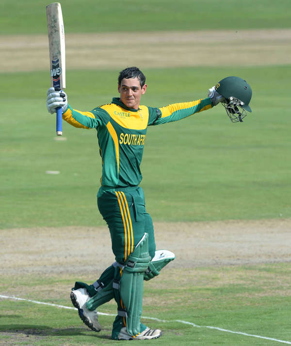 Rainy end in Centurion after another de Kock ton ... Quinton De Kock 2013