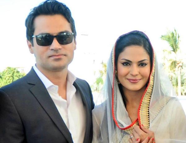 Veena Malik with her new husband Asad Khan Khattak