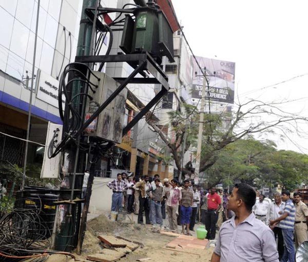 Three injured in electricity transformer explosion