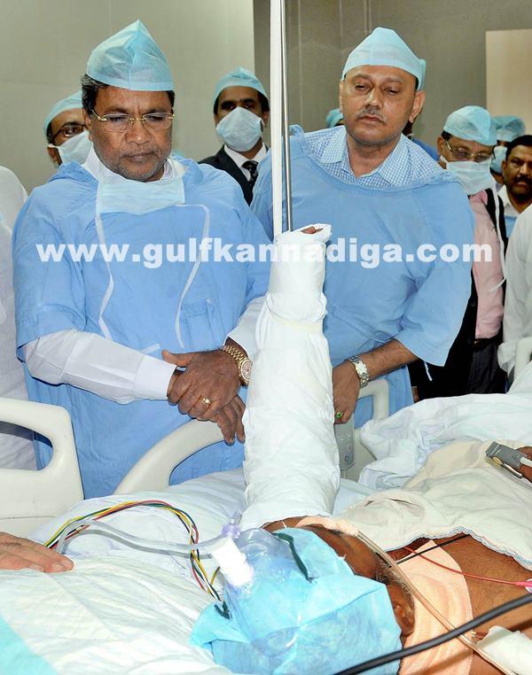 Belgaum CM visits KLE Hospital_July 6_2014_007