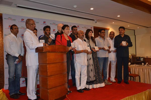 From LtoR Dr K C Mohanty Samir Tondon Dr Sunita Dube Shamir Tondon Dr H R Jhunjhunwala and Dr Rajendra Sharma at the launch of Doctors Anthem