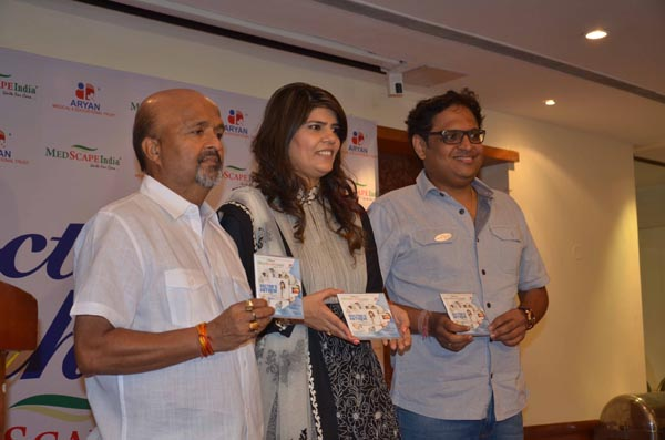 Samir Anjaan Dr Sunita Dube and Shamir Tondon at the launch of Doctors Anthem