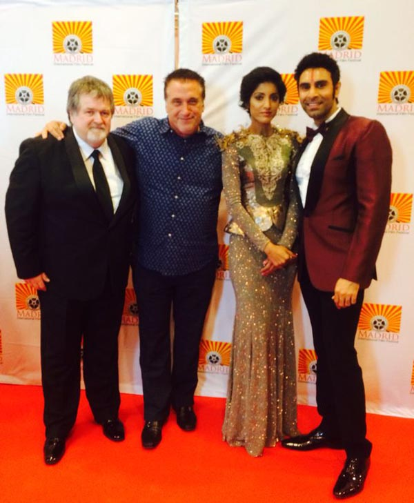 Sandip Soparrkar and Jesse Randhawa with Hollywood actor Daniel  Baldwin and president of MIFF Carl Toney