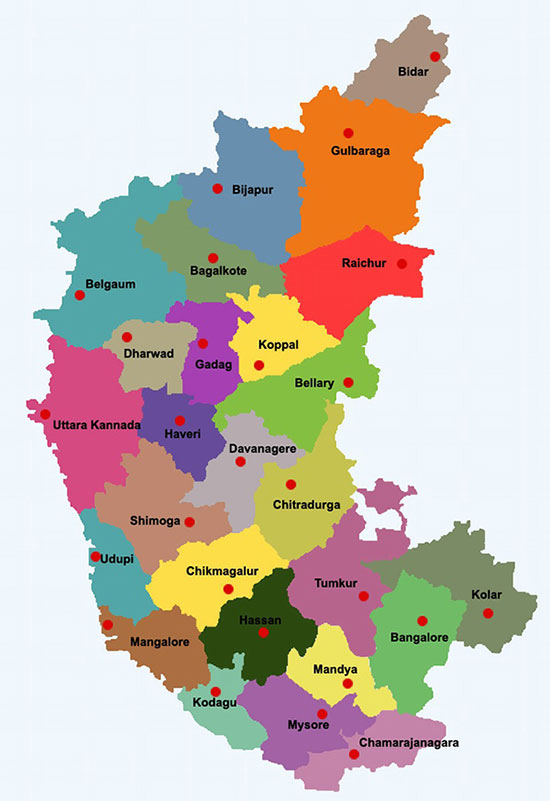 Bangalore is renamed as Bengaluru and Belgaum as Belagavi