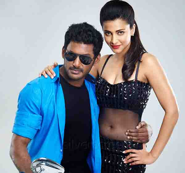 Actor Vishal and Shruthi Hassan in Poojai Movie Publicity Stills