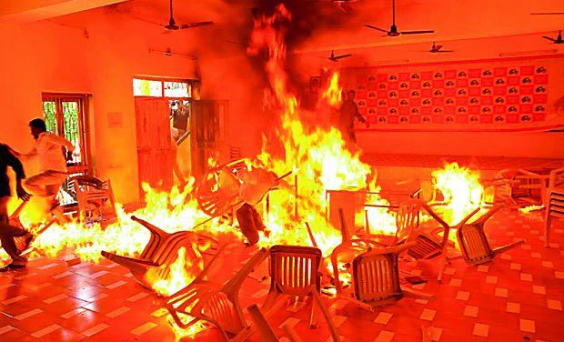 telugu desam office fire_0