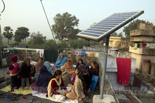 Development of solar power micro grid to electrify Dharnai villa