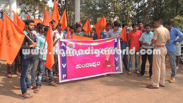 ABVP_Kundapura_Protest (1)