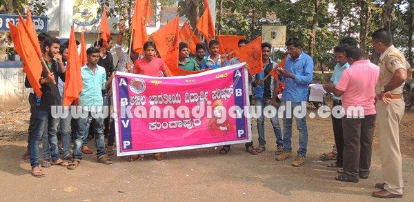 ABVP_Kundapura_Protest (4)
