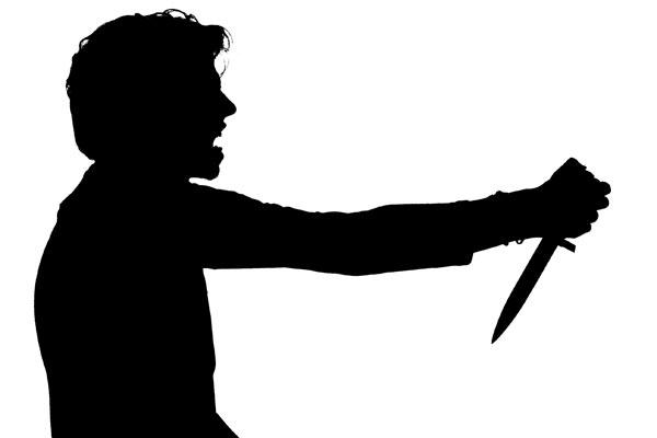 man-stabs