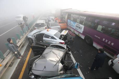 South Korea 100 Car Pileup