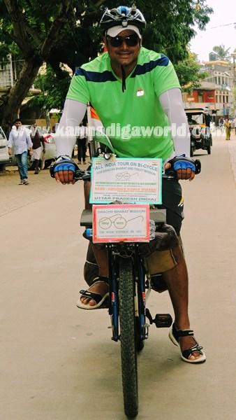 Cyclist Abhishek_All India_Tour