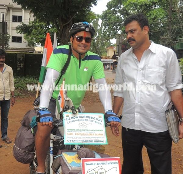 cyclist-abishek visit Modhi.