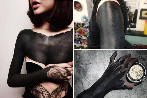The Blackout Tattoo: The New Rising Trend Where Whole Body Is Covered By LOT of black ink