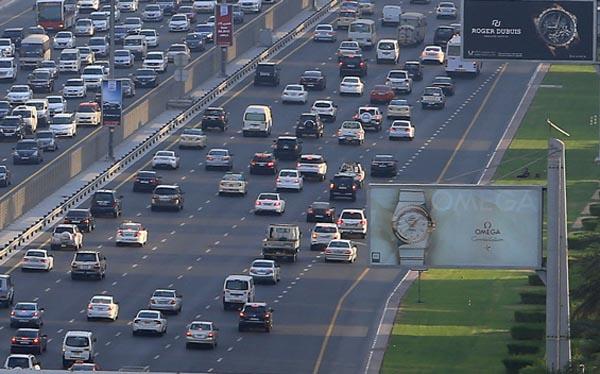 Sheikh Zayed Traffic in Dubai