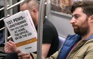 Watch: This guy took fake book covers on the subway to see people's reactions