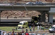 Oman accident: Two killed after truck falls off Al Hamriya bridge