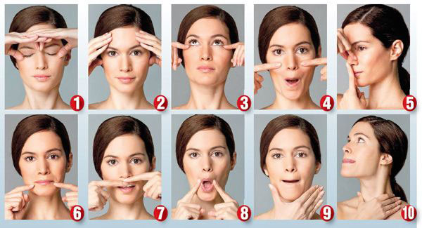 Facial excercise video