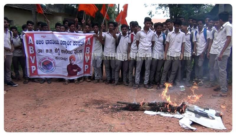 kundapura_abvp_protest-4