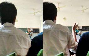 ಟೀಚರ್ಗೆ ಅವಾಜ್ ಹಾಕಿದ ವಿದ್ಯಾರ್ಥಿಯ ವಿಡಿಯೋ ವೈರಲ್: ಇದೇನಾ ಸಭ್ಯತೆ?(Video)