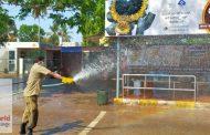 ಕೊರೋನಾ ಭೀತಿ- ಕುಂದಾಪುರ ನಗರದಲ್ಲಿ ಕೀಟ ನಾಶಕ ಸಿಂಪಡನೆ