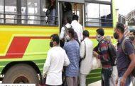 ಲಾಕ್ ಡೌನ್: ಬೆಂಗಳೂರಿನಿಂದ ಊರುಗಳಿಗೆ ತೆರಳಲು ಪ್ರಯಾಣಿಕರ ನೂಕುನುಗ್ಗಲು!